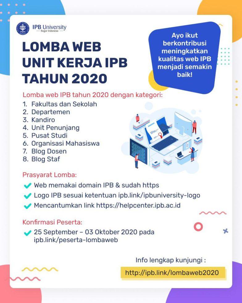 Lomba Web Unit Kerja IPB Tahun 2020